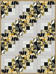 This nice precut quilt kit uses a traditional quilt block pattern ... & This nice precut quilt kit uses a traditional quilt block pattern and is  easy to sew. Quilt kit features the Log Cabin quilt block pattern with lar… Adamdwight.com