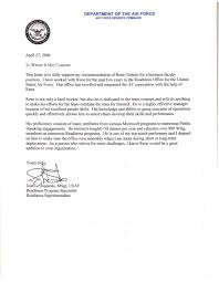 Air Force Recommendation Letter Sample Air Force Letter Of Recommendation anotherwaynow 2