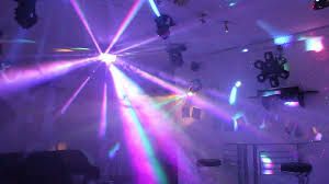 home disco lights synchronized to 4 scanners moving heads lasers dmx controlled you