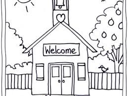 Small Picture Schoolhouse Printable Coloring Page AZ Coloring Pages Az Coloring