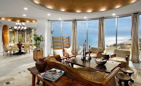 Decorations:Beach House Living Room Decorating Idea With Striped Sofa And  Flatscreen Tv Also Nautical