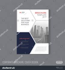 Good Layout Design Corporate Brochure Cover Design Layout Good Stock Vector
