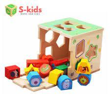 Shop bán Đồ Chơi Cho Bé 1 tuổi - Hộp thả hình khối gỗ động vật. Đồ chơi  thông minh cho trẻ em phát triển kỹ năng.