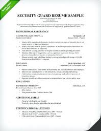 Security Officer Resume Security Resume Examples And Samples