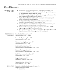 Loan Officer Resume Resumes Mortgage Objective Template Free