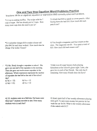 math worksheets two step equations on writing linear equations 424791 new page ms passarella s math class 424792