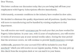 Letter Of Recommendation For Layoff Employee Sinma