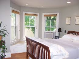 bedroom alluring small master bedroom decor using bay window ideas plus white blinds also cream