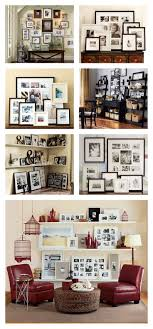 Wall Displays inspired from Pottery Barn. photo display and