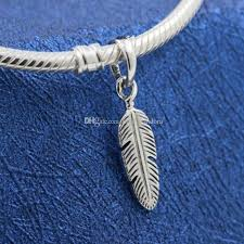 2019 new 100 s925 sterling silver spiritual feather dangle charm bead fits european pandora jewelry bracelets necklaces pendants from landypandora