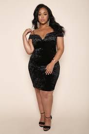 Candle Light Dinner Dress Black Velvet Candlelight Dinner Plus Size Mini Dress