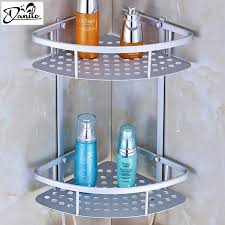bathroom accessories. Hot Sale Space Aluminum Bathroom Shelf Two Layer Wall Mounted Shower Shampoo Soap Cosmetic Shelves Accessories H