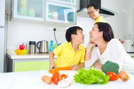 Family Kitchen Asian Family Kitchen Lifestyle Stock Photo Picture And Royalty