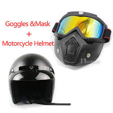 new moto motorcycle helmet goggles detachable mask for mx off road cafe racer in helmets from automobiles motorcycles on aliexpress alibaba group