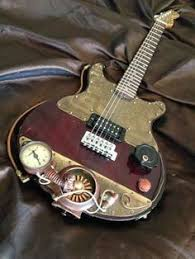 diy mahogany bolt on double neck 12 string and electric guitar kit steampunk electric guitar