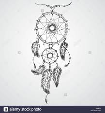 Native Dream Catchers Drawings Dreamcatcher feathers and beads Native american indian dream 38