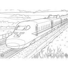 日本の列車 B5 ぬりえ 電車新幹線 01 メール便対象