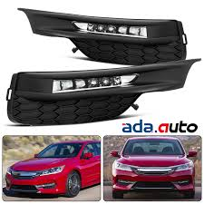 2018 Accord Fog Light Kit Details About Fit 2016 2017 2018 Honda Accord Sedan Led Drl Bumper Fog Lights Set W Wiring Kit