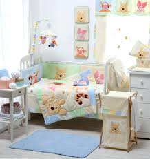 decoration pooh nursery bedding baby sets hiding crib collection 4 set winnie the and curtains