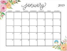Free Cute Printable Calendars 2019 Printable Printable