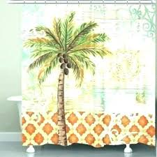 palm tree curtain shower curtains rings hooks kitchen sheer summer fun window hang polyester