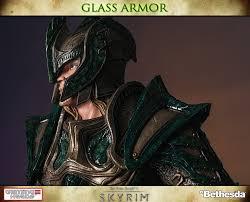 the elder scrolls v skryim glass armor statue