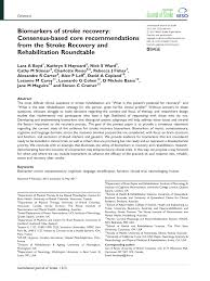 pdf biomarkers of stroke recovery