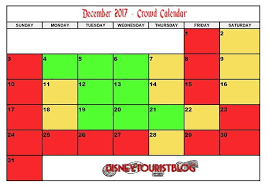 December Disneyland Crowd Calendar Disney Tourist Blog