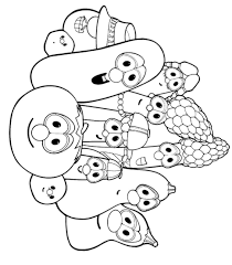 Veggie Tales Bible Coloring Pages Jonah Lineart Get Coloring Page