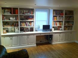 home office designs with built in bookshelves built office furniture