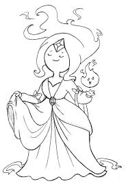 Adventure Time Coloring Pages Princess Flame