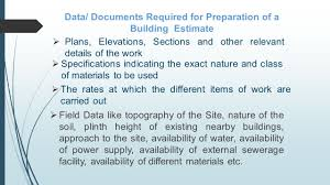How To Prepare An Estimate Presentation On Preparation Of Estimate Of Building By Er