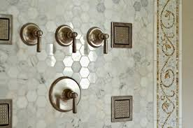 carrara marble hexagon tile view full size incredible bathroom shower