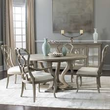marquesa wood round dining table in gray cashmere