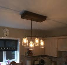 Diy Kitchen Lighting Diy Kitchen Light Fitting Scaffolding Board Kilner Jars Home