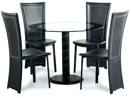 dining table and 4 chairs and bench in round