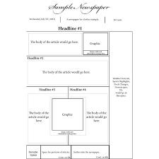 Newspaper Template For Microsoft Works Options For A Nespaper Front Page Layout
