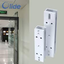 aluminum alloy material magnetic lock clip for swing glass door glass swing door magnetic lock door clip