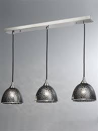 franklite vetross black le glaze satin nickel 3 light pendant ceiling fitting fl2290 3 952