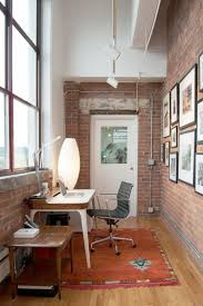 office industrial design. plain industrial small home office with iconic airia desk and the bubble lamp design  adrienne derosa and office industrial design g