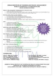 n institute of tourism and travel management nellore rules and regulations