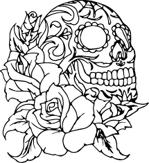 Skull Coloring Pages Day Of The Dead Skulls Coloring Pages Mexican ...