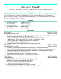 Parts Of A Resume Best Retail Parts Pro Resume Example LiveCareer 79