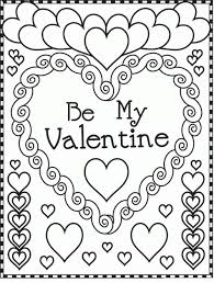 Small Picture Coloring Page Valentines Day Coloring Pages Printable Coloring