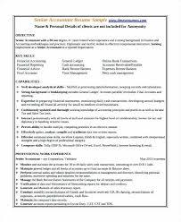 Resume Format For Tally Erp 9 Best Senior Accountant Resume Sample
