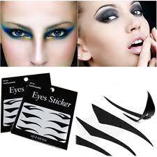 20pairs eye cosmetic smokey makeup transfer eyeshadow tattoo eyeliner stickers print