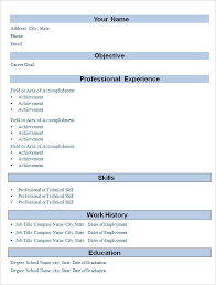 Basic Resume 21 Simple Professional Experience Cv Resume Template