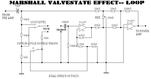 blue guitar schematics ss fx loop for marshall valvestate amps