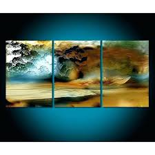 outdoor canvas art. Outdoor Canvas Art 3 Panel Landscape Paintings Abstract Ocean Oil Painting Modern Home Decor Wholesale