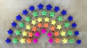 Regenbogen Deko Origami Stern Basteln Mit Papier Geschenk